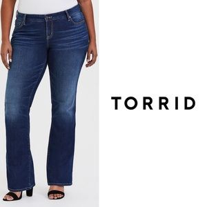 Torrid dark wash bootcut jeans